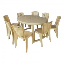 NASTLI- Round Table + 8 Chairs