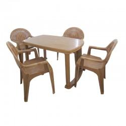 NASTMA- Rect Table + 4 arm...